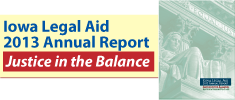 Link to Iowa Legal Aid 2013 annual report
