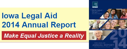 Link to Iowa Legal Aid 2014 annual report