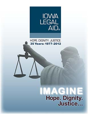 Iowa Legal Aid 35 years booklet
