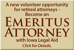 emeritus attorney volunteer opportunity