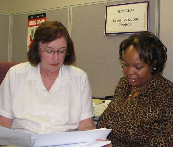 Marilyn Staats and Marveda Stinson, of the HIV/AIDS Legal Resource Project
