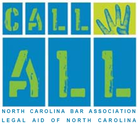 """Call 4ALL"" Project - Provides volunteer attorneys opportunities to conduct telephone interviews with eligible LANC clients and provide free legal advice (similar to the service provided by volunteer attorneys on NCBA's annual ""4ALL Statewide Call-In Day"")."