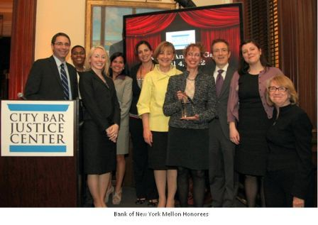 Picture of Bank of NY Mellon Honorees