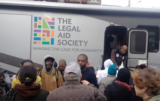Legal Aid staff helping Coney Island residents