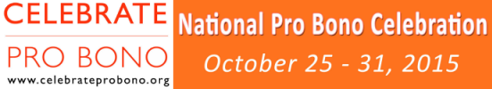 Celebrate Pro Bono 2015 banner