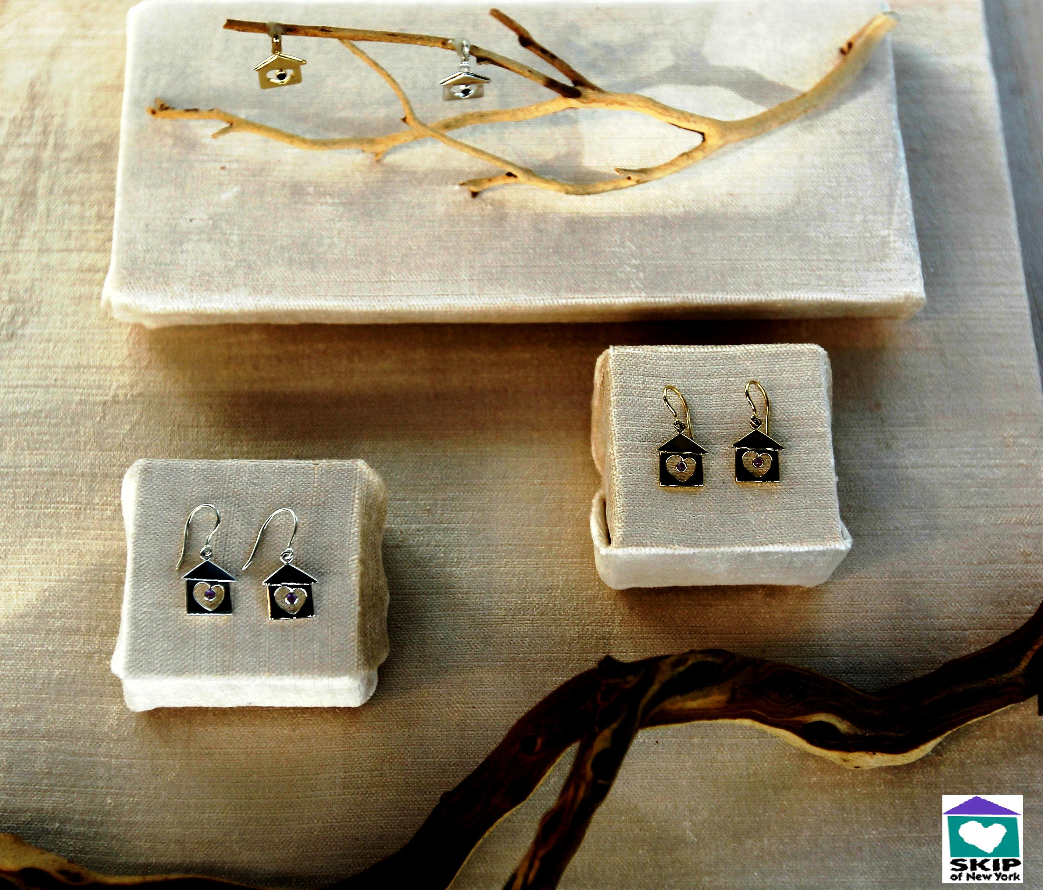 Pieces of jewelry from SKIP of New York's Home Collection. Proceeds from Home Collection jewelry sales go to SKIP of New York to help make the dream of home real for thousands of sick and developmentally disabled kids.