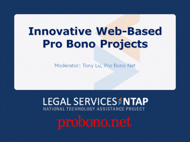Innovative Web-Based Pro Bono Projects Screenshot