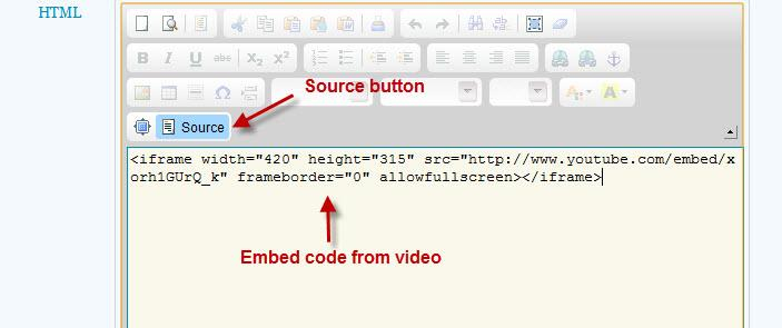 HTML Source and Embed Code Example Image