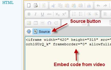 CKE Editor Source Button Example Image
